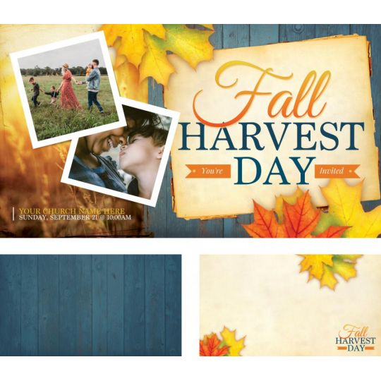 Church 4k Screen Graphic - Fall Harvest Day - 3840 x 2160 px