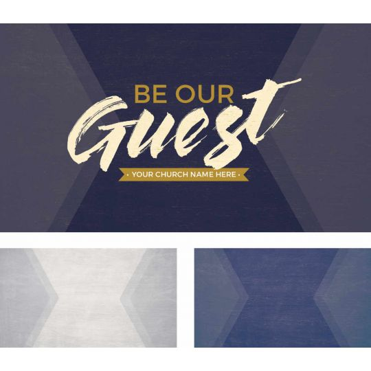 4k Screen Graphic - Be Our Guest Purple Wood