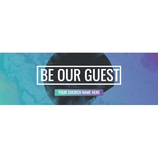 Website Banner Graphic - Be Our Guest Circle Gradient