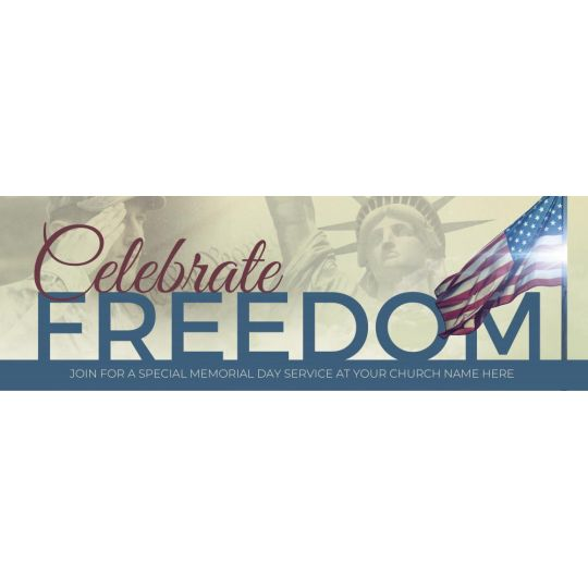 Church Website Banner Graphics - Celebrate Freedom - 2400 x 800 px