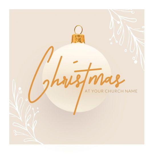 Church Social Media Graphics - Christmas at Church - 1200 x 1200 px