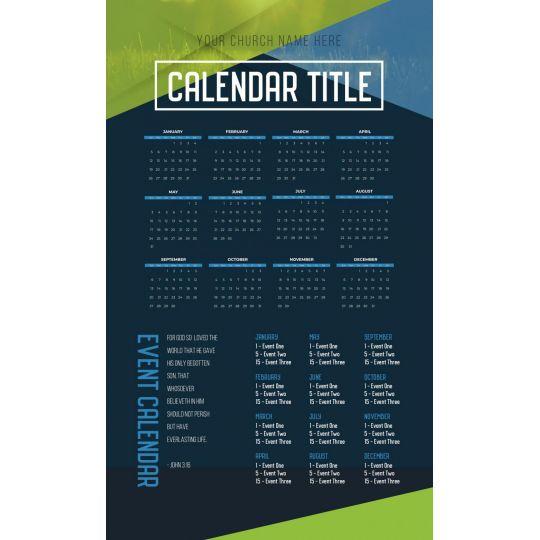 Church Calendars - Modern Yearly Theme - 8.5 x 14 in.