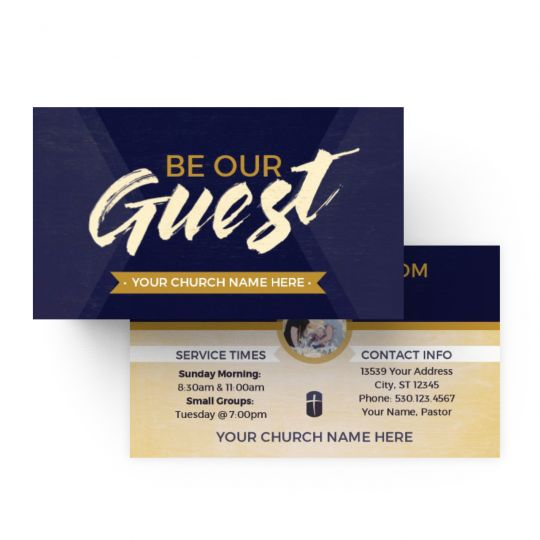 Mini Invite Cards - Be Our Guest Purple Wood