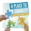 Church Social Media Graphics - A Place To Connect - 1200 x 1200 px