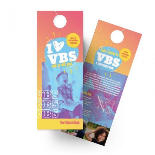 Door Hangers - I Love VBS - 4.25 x 11 in.