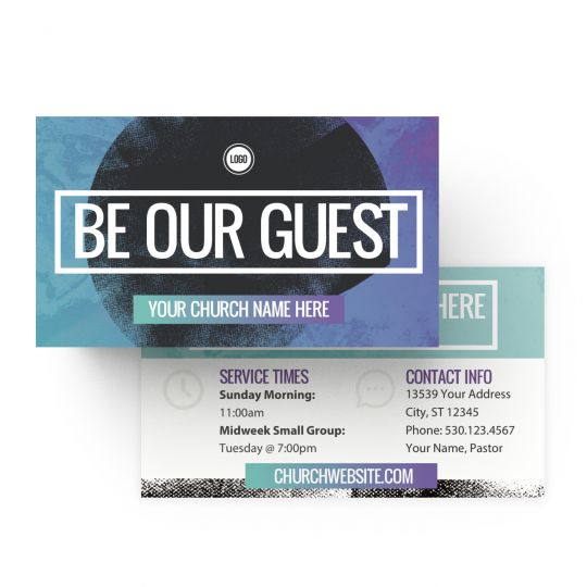 Mini Invite Cards - Be Our Guest Circle Gradient