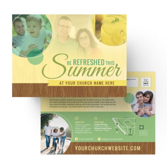 Church EDDM - Be Refreshed This Summer - 9 x 6.5 in.