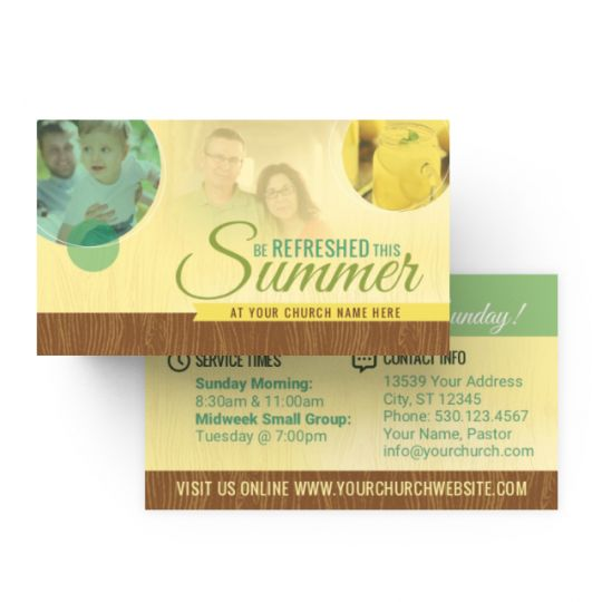 Mini Invite Cards - Be Refreshed This Summer - 3.5 x 2 in.