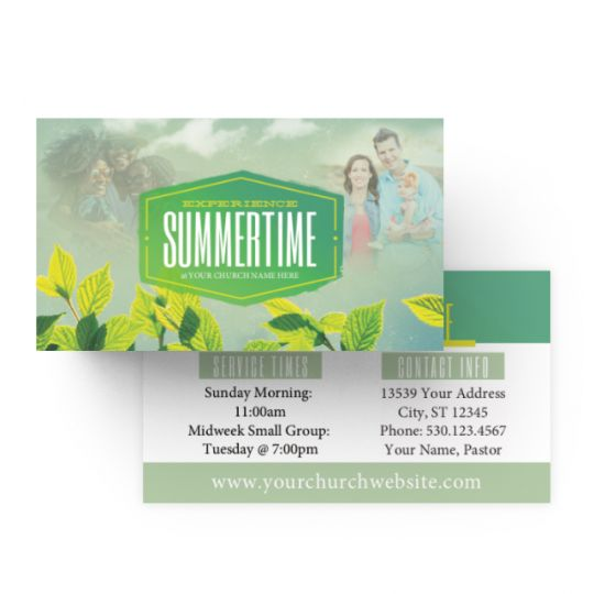 Mini Invite Cards - Experience Summertime Leaves - 3.5 x 2 in.