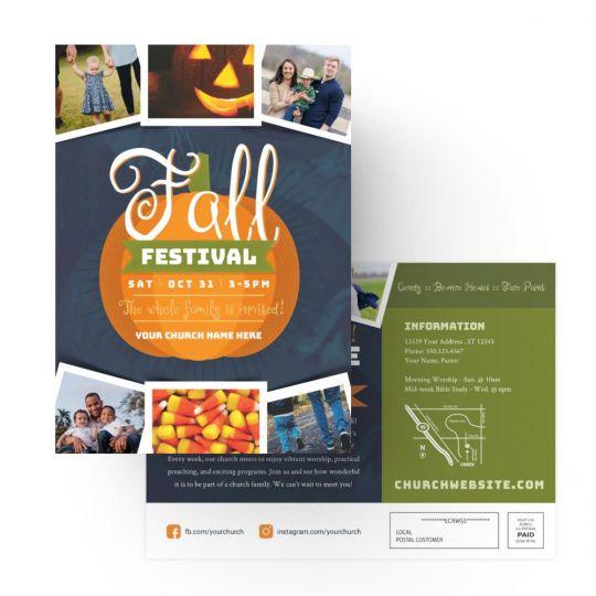 Church EDDM - Fall Festival - 9 x 6.5 in.