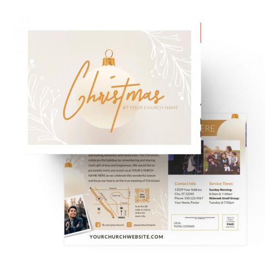 Church EDDM - Christmas at Church - 9 x 6.5 in.