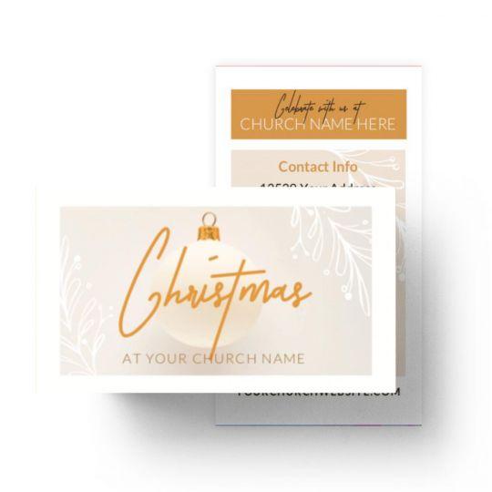 Mini Invite Cards - Christmas at Church - 3.5 x 2 in.