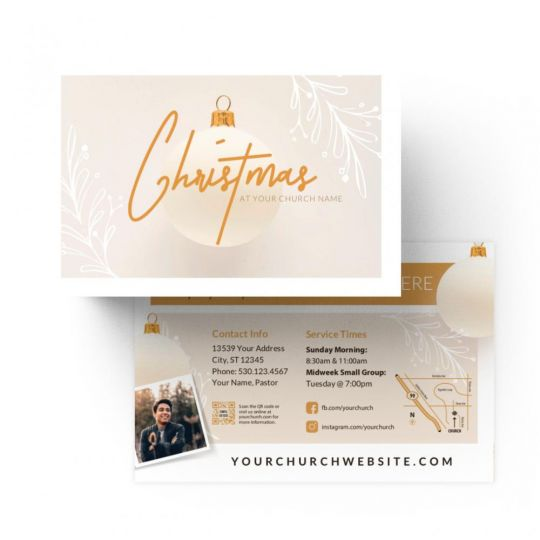 Church Standard Invite Cards - Christmas at Church - 4 x 6 in.