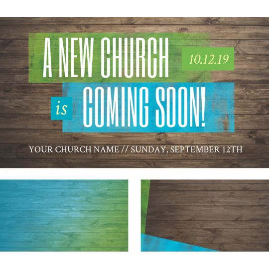 4k Screen Graphic - A New Church Coming Soon