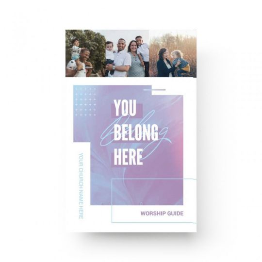 Church Bulletin Covers - Welcome Paint - 8.5 x 11 in.