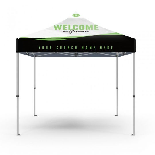 Church Event Tent - Wavy Lines - 10 ft.