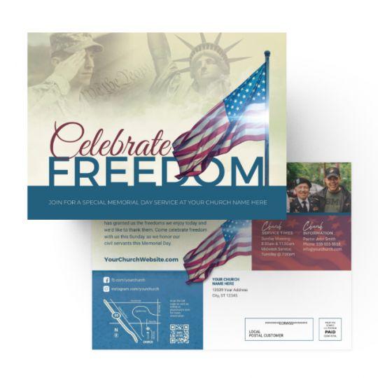 Church EDDM - Celebrate Freedom - 9 x 6.5 in.