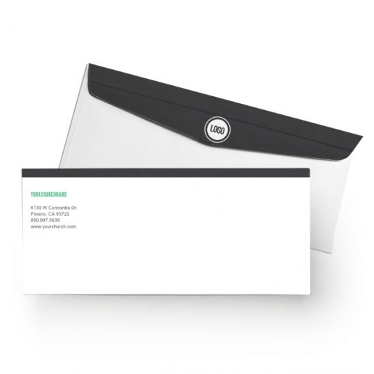 Church Letterhead Envelopes - Modern Wood - 8.5 x 11 in.