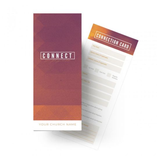 Connection Cards - Gradient Service - 8.5 x 3.5 in.