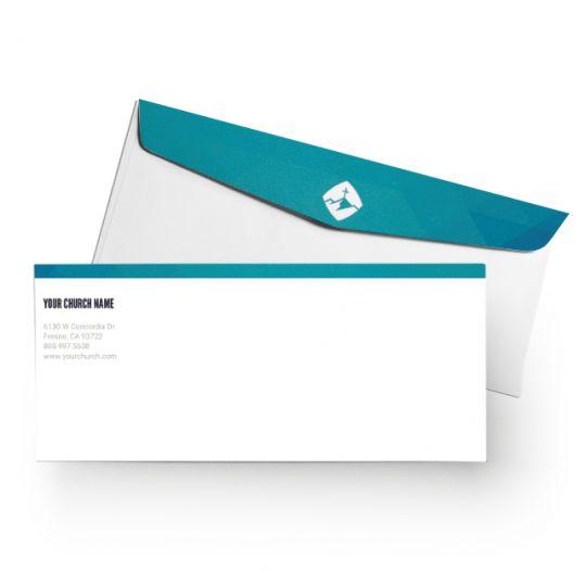Church Letterhead Envelopes - Gradient Service - 8.5 x 11 in.