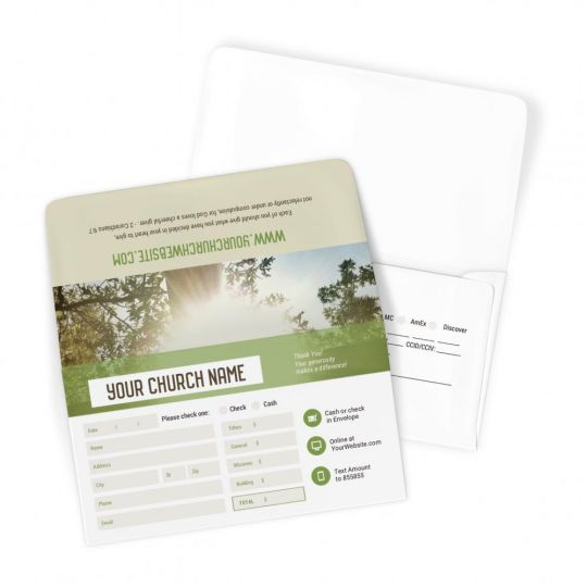 Church Large Offering Envelopes - Cross YEARLY THEME - 3.625 x 6.5 in.
