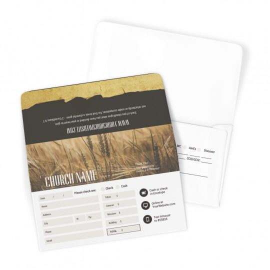Church Large Offering Envelopes - Harvest YEARLY THEME - 3.625 x 6.5 in.