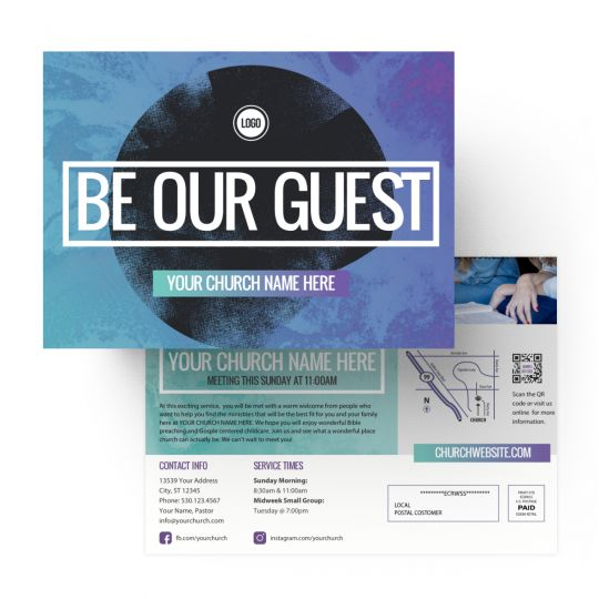 EDDMs - Be Our Guest Circle Gradient