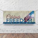 Church Horizontal Banner - Celebrate Freedom - 90 x 36 in.