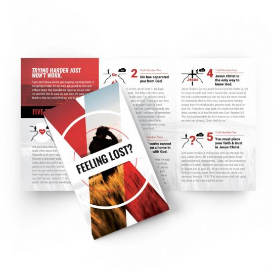Tri-fold Gospel Tract - Feeling Lost - 5.5 x 3.25 in.