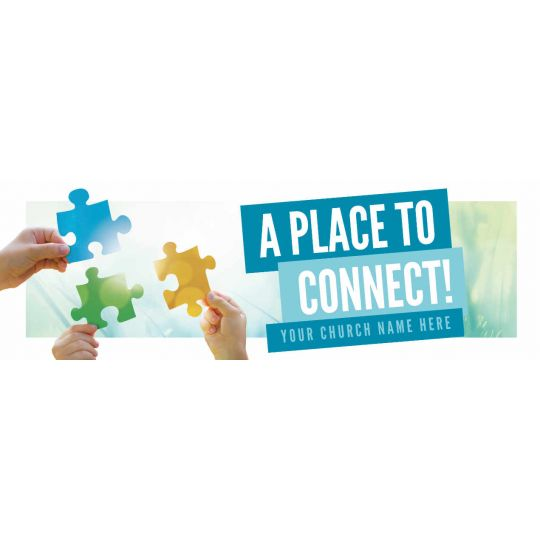 Church Website Banner Graphics - A Place To Connect - 2400 x 800 px