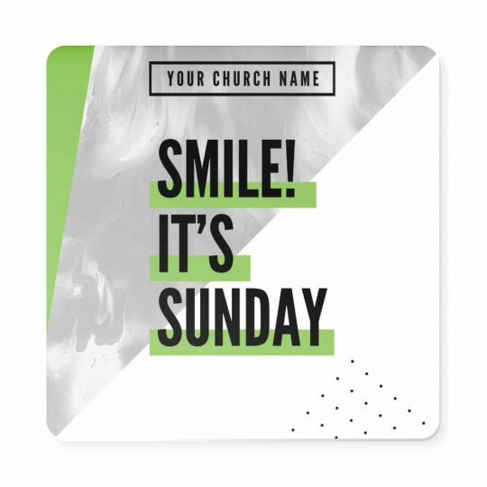 Church Welcome Signs - Church Dots - 23 x 23 in.