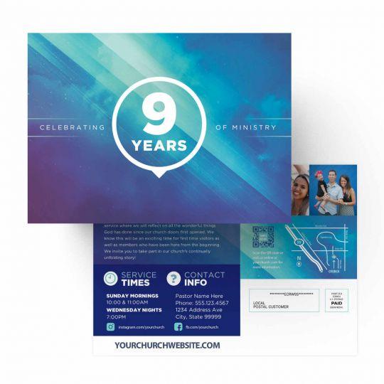 Church EDDM - Blue Cloud Anniversary - 9 x 6.5 in.