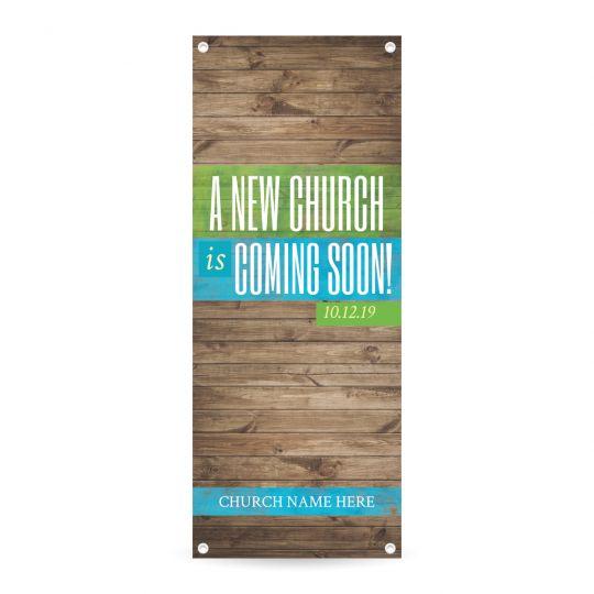 Vertical Banner - A New Church Coming Soon