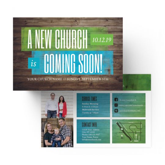 Standard Invite Cards - A New Church Coming Soon