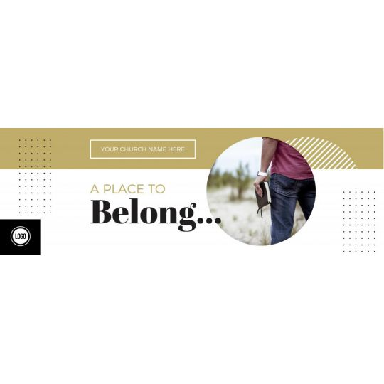 Church Website Banner Graphics - A Place to Belong - 2400 x 800 px