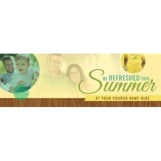 Church Website Banner Graphics - Be Refreshed This Summer - 2400 x 800 px